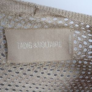 Zadig & Voltaire Beige Shall Double Buckle Size M